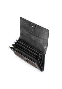 Wittchen - Damski portfel ze skóry lakierowanej podłużny. Kolor: czarny. Materiał: lakier, skóra