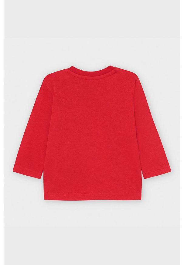Czerwona koszulka z długim rękawem Mayoral na co dzień, casualowa, z nadrukiem