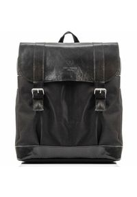 Czarny plecak PAOLO PERUZZI retro