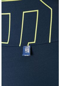 LABELLAMAFIA - LaBellaMafia - Szorty. Kolor: niebieski. Materiał: dzianina. Wzór: nadruk
