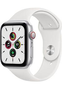 APPLE - Smartwatch Apple Watch SE GPS + Cellular 44mm Silver Alu White Sport Biały (MYEV2FD/A). Rodzaj zegarka: smartwatch. Kolor: biały. Styl: sportowy