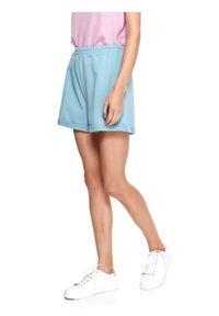 TOP SECRET - Luźne dresowe szorty damskie. Kolor: niebieski. Materiał: dresówka. Sezon: lato. Styl: wakacyjny, elegancki