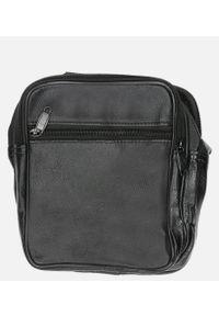 Casu - Czarna torba męska na ramię casu 0986. Kolor: czarny