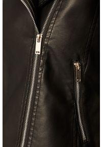 Czarna kurtka Brave Soul na co dzień, bez kaptura, klasyczna
