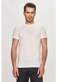Biały t-shirt Karl Lagerfeld z nadrukiem, na co dzień