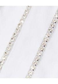ALEXANDRE VAUTHIER - Biała koszula z kryształowymi zdobieniami. Kolor: biały. Materiał: bawełna. Długość rękawa: długi rękaw. Długość: długie. Wzór: aplikacja. Styl: klasyczny, elegancki