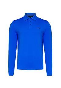 Niebieska koszulka polo Chervo długa, na zimę