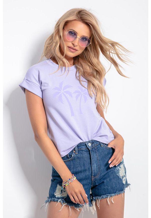 Liliowa bluzka Fobya