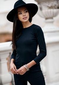 Born2be - Czarna Koszula Guinelyn. Kolor: czarny. Materiał: bawełna, koronka, materiał. Długość rękawa: długi rękaw. Długość: długie. Wzór: kwiaty, koronka