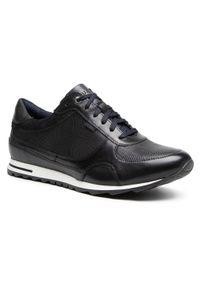 Sneakersy QUAZI - QZ-12-02-000106 601 1. Okazja: na spacer, na co dzień. Kolor: czarny. Materiał: skóra, zamsz. Szerokość cholewki: normalna. Styl: sportowy, casual