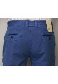 Chiao - Elastyczne Spodnie Męskie, CHINOSY, Zwężane Nogawki, Chabrowe, Kolorowe. Kolor: niebieski. Materiał: lycra, bawełna. Wzór: kolorowy