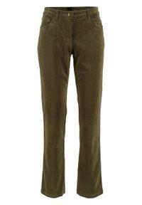 Zielone spodnie bonprix z obniżonym stanem
