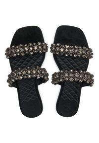 Tory Burch Klapki Crystal Slide 5Mm Sandal Czarny. Kolor: czarny