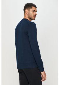 TOMMY HILFIGER - Tommy Hilfiger - Sweter. Okazja: na co dzień. Kolor: niebieski. Materiał: materiał. Wzór: aplikacja. Styl: casual