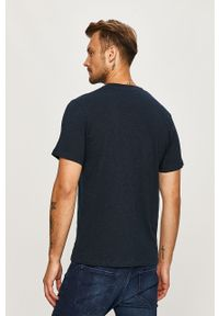 Niebieski t-shirt Jack & Jones casualowy, na co dzień, z okrągłym kołnierzem