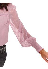 Różowa bluzka TOP SECRET z długim rękawem, długa