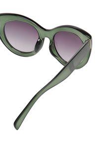Zielone okulary przeciwsłoneczne TOP SECRET w kolorowe wzory