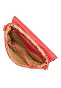 Wittchen - Damska listonoszka z pierścieniami. Kolor: czerwony. Wzór: aplikacja. Materiał: skórzane. Styl: elegancki, casual