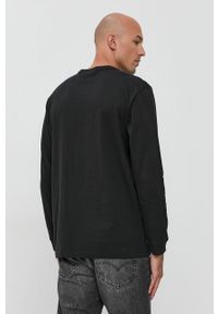 adidas Originals - Longsleeve bawełniany. Kolor: czarny. Materiał: bawełna. Długość rękawa: długi rękaw. Wzór: gładki, aplikacja