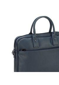 Niebieska torba na laptopa Wittchen biznesowa
