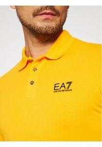 Żółta koszulka polo EA7 Emporio Armani polo #5
