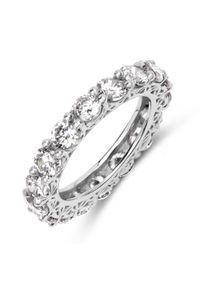 Braccatta - FIRI 4 Srebrny pierścionek obrączka cyrkonie 4mm. Materiał: srebrne. Kolor: srebrny. Kamień szlachetny: cyrkonia