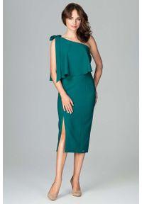 Zielona sukienka Katrus wizytowa