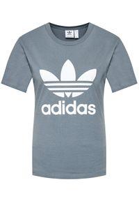 Adidas - adidas T-Shirt adicolor Classics Trefoil GN2903 Szary Regular Fit. Kolor: szary