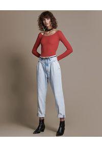 ONETEASPOON - Jeansy z wysokim stanem Streetwalkers. Stan: podwyższony. Kolor: niebieski. Sezon: lato. Styl: klasyczny, vintage