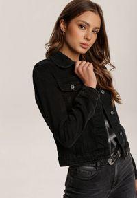 Renee - Czarna Kurtka Iohlyn. Kolor: czarny. Materiał: jeans. Długość rękawa: długi rękaw. Długość: długie. Sezon: jesień, wiosna