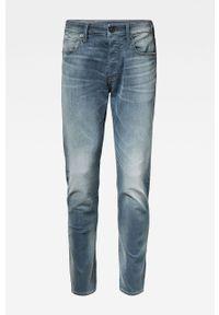Niebieskie jeansy G-Star RAW z aplikacjami
