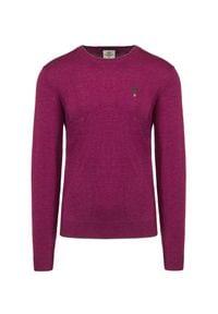 Aeronautica Militare - Sweter wełniany AERONAUTICA MILITARE. Kolor: różowy. Materiał: wełna. Wzór: haft. Sezon: zima. Styl: klasyczny