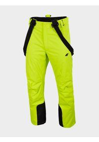 Zielone spodnie narciarskie 4f Dermizax