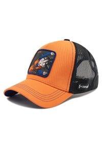 CapsLab - Czapka z daszkiem CAPSLAB - CL/DBZ2/1/GTN1 Czarny Pomarańczowy. Kolor: czarny, wielokolorowy, pomarańczowy. Materiał: materiał, bawełna, poliester