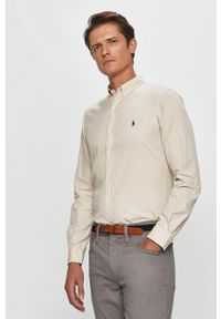 Szara koszula Polo Ralph Lauren długa, casualowa, polo