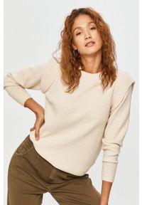 Answear Lab - Sweter. Okazja: na co dzień. Kolor: beżowy. Materiał: dzianina. Długość rękawa: długi rękaw. Długość: długie. Styl: wakacyjny