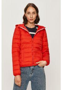 Czerwona kurtka Tommy Jeans na co dzień, casualowa, z kapturem