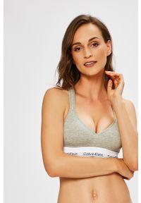 Szary biustonosz sportowy Calvin Klein Underwear gładki