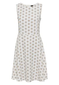 Biała sukienka bonprix w grochy, na lato
