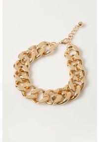 Złoty naszyjnik Pieces metalowy