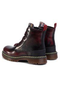 Czerwone buty trekkingowe QUAZI klasyczne, z cholewką
