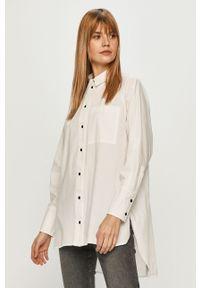 Biała koszula only z klasycznym kołnierzykiem, długa, na co dzień, z długim rękawem