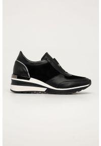 Czarne sneakersy Wojas na sznurówki, z cholewką