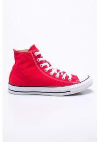 Czerwone wysokie trampki Converse na sznurówki, z cholewką