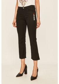 Czarne spodnie materiałowe Love Moschino