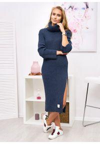 Czarny sweter Ligari Dresses elegancki, w paski #5