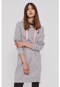 JOOP! - Joop! - Bluza bawełniana. Okazja: na co dzień. Kolor: szary. Materiał: bawełna. Długość rękawa: długi rękaw. Długość: długie. Styl: casual