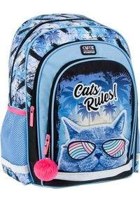 Starpak Plecak szkolny Cat Rules niebieski (446613). Kolor: niebieski