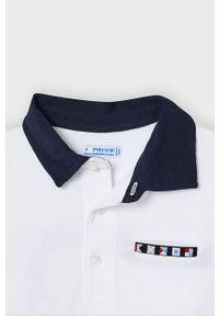 Biały t-shirt polo Mayoral polo, na co dzień, casualowy