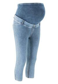 Legginsy ciążowe rybaczki w optyce dżinsów bonprix niebieski. Kolekcja: moda ciążowa. Kolor: niebieski